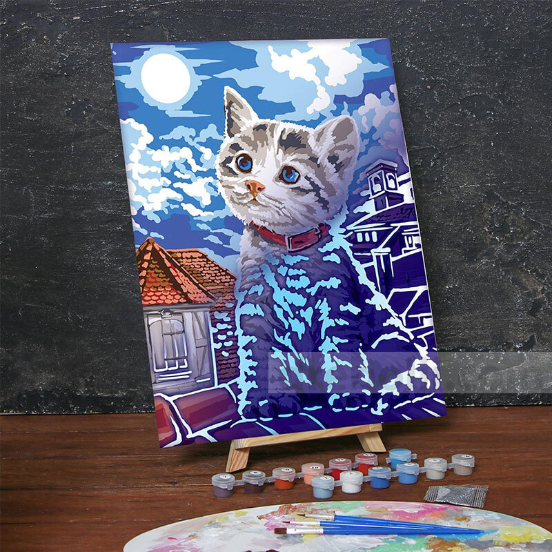 Картина по номера, Коте