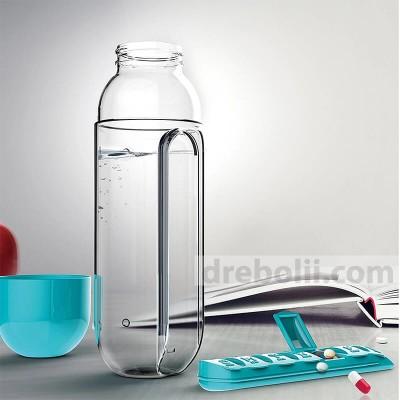 Бутилка с вграден органайзер за витамини и хапчета
