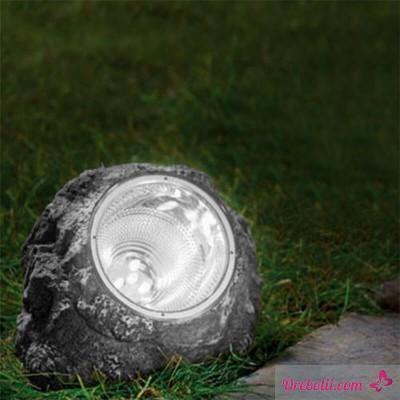 """Градинска соларна лампа """"Камък"""""""