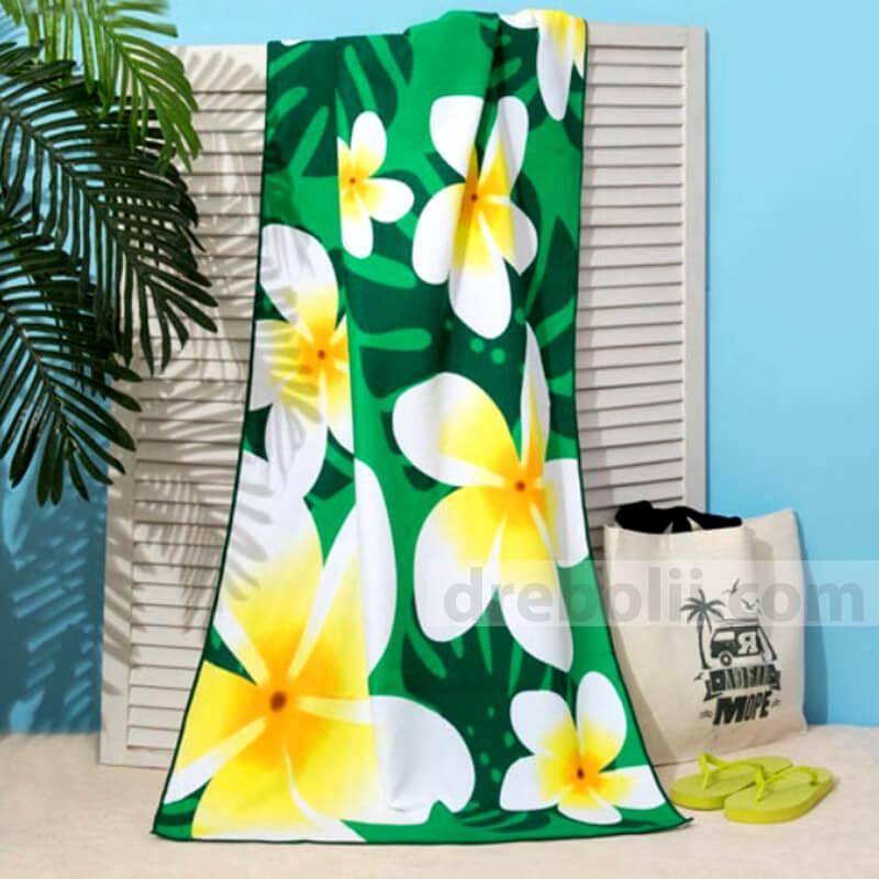 Плажна кърпа, Цветя