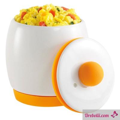 Керамичен съд за приготвяне на яйца в микровълнова фурна