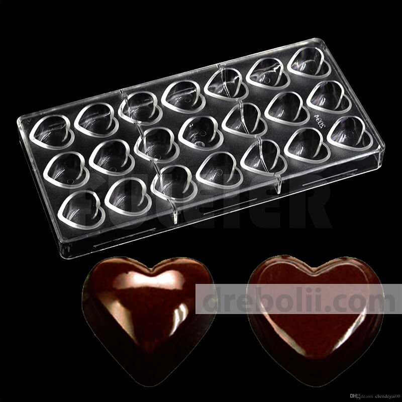 "Поликарбонатна форма за шоколадови бонбони ""Сърце"""