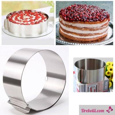 Регулируем ринг за торти и сладкиши, кръг 16-30 см