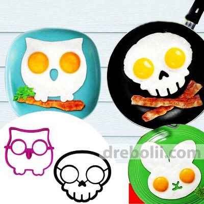 Силиконови форми за пържени яйца и палачинки