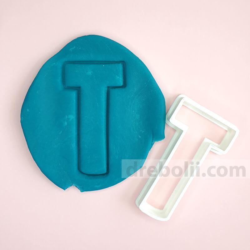 Резец за сладки, Буква T