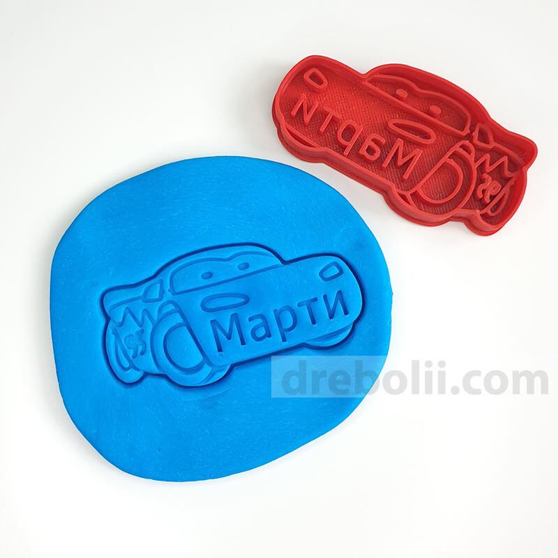 Резец за сладки, Кола с надпис