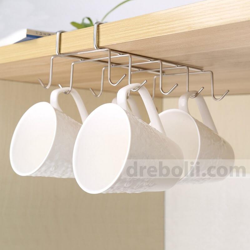 Двойна закачалка - органайзер за чаши и прибори