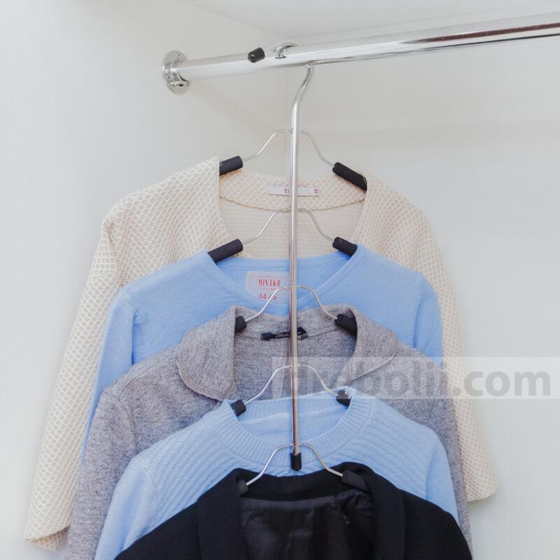 Закачалка за дрехи, 5 нива